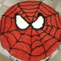 Spiderman man, this took lots of red icing gel