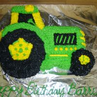 John Deere Tractor John Deere tractor done in buttercream done for a friend's birthday