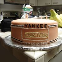 Yankee Candle yankee candle done in fondant, was really late at night so it is somewhat sloppy but my friend loved it anyways