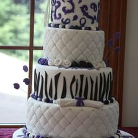 Graduation Cake   This is one of the first cakes I have done. All fondant decoration. Thanks for looking!