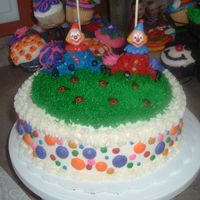 Clowns On A Picnic Cake