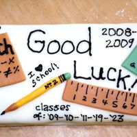 Back To School Fun  A 'just for fun' cake for my kids & their friends - I had a little rectangle of cake left over from a birthday cake &...