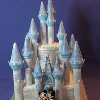 Another Castle Using The Wilton Set~ This time the bride and groom wanted the disney colours.