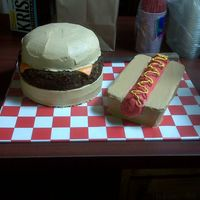 Hamburger And Hotdog