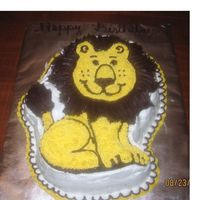 Lion Birthday Cake Lion birthday cake for my Leo born brother and sister.