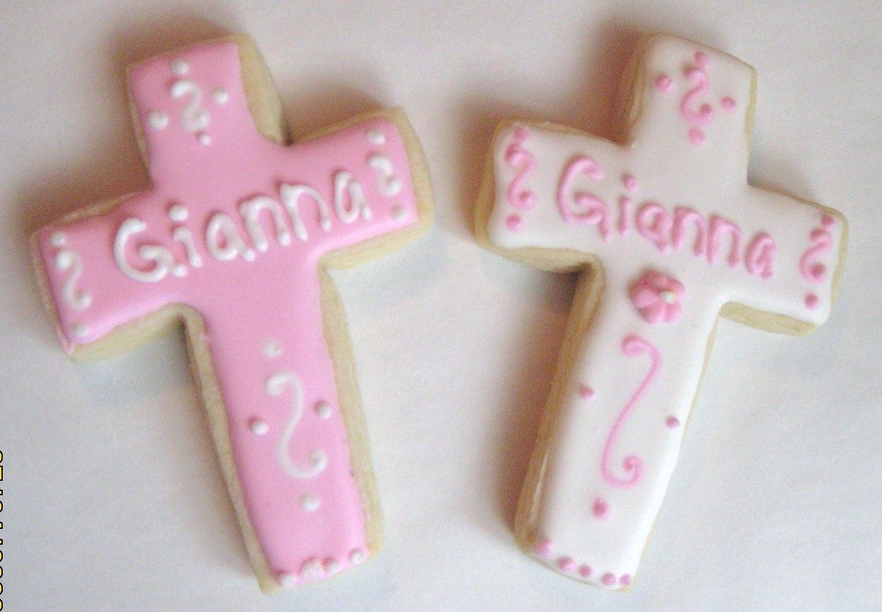 Pink Baptism Cross Cookies   NFSC with Antonia's 74's RI. i am making these for my friend's daughter. TFL