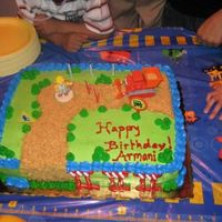 Bob The Builder Sheet Cake   I made this for my nephew's birthday. I used the Bob the Builder Cake kit. Thanks for looking,