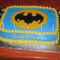 Batman I copied the cake from CC'ers. Chocolate cake with RI Batman logo. I made it for my nephew.