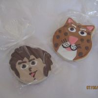 Diego And Baby Jaguar Cookies   NFSC with Anonias RI. Made these as a gift for my SIL's nephew. They loved them. I hadfun making them! Thanks for looking!!