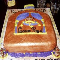 Crown Royal Bottle Butter Pecan Cake with fondant