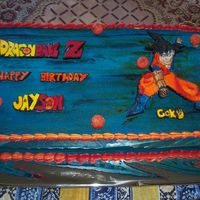 Dragon Ball Z Slab cake for a dragon ball z lover, everything is edible.