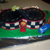 Cars Race Track A cake done for a little boy who loves cars,