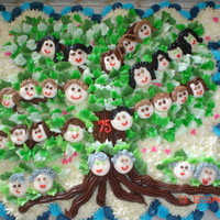 Family Tree 40 cc vanilla, chocolate w buttercream frosting