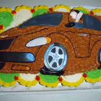 Pt Cruiser   carved pt cruiser on top of ccc, details in fondant