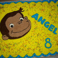 Curious George   80 ccc choclate, vanilla & strawberry with BC frosting