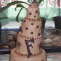 "Engagement Cake This is an engagement cake (mini wedding cake) that I made for my Sis. Because the layers were so small (6"", 4"", 3"", 2&quot..."