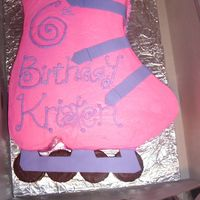 "In-Line Skate Cake This was for my babysitter's daughter's skating birthday party. I would have made the ""arch"" of the skate more narrow,..."