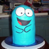 Blooregard Q. Kazoo This is a birthday cake for my brother (he's 32). Bloo is from Foster's home for Imaginary Friends (like my Eduardo cake). He is...