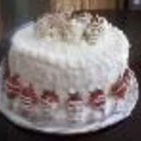 Strawberry Tall Cake FRENCH VANILLA CAKE W/STRAWBERRY FILLING.. ALSO HAS SIX LAYERS...
