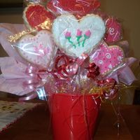 Cookie Bouquet I made these for our Ladies Sunday School class. We have a recipe and craft every Sunday and this was mine. We drawed names for it and the...