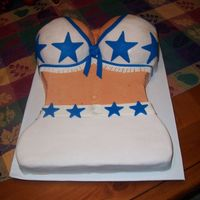 Dallas Cowboy Cheerleader Made this was for my Dad and Son whose birthdays are just a few days apart. Thanks to briansbaker , for the inspiration for this cake,...
