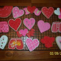 Cookies I have to give credit to all the beautiful Valentines Day cookies I have seen on this site. I copied several different ones. Thanks to all...