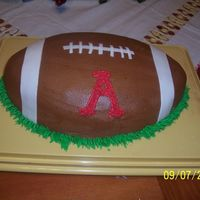 Arkansas Football This was soooo last minute, my daughter tells me the night before she needs a cake for her boss. So this was a rush job.... It was...
