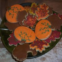 Fall Cookies Just a platter of cookies!! Sugar cookies with Antonias icing. I have worked with regular royal icing but never cared for the taste. This...