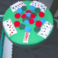 Fondant Poker Table