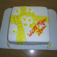 Daisies This was my fondant cake for class. I just put the yellow bow on it. My mom has a daycare, and one of the parents asked what i was going to...