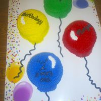 Balloon Cakes I made this cake for a co-worker. The theme for her daughter's b-day was just balloons. She didn't want anything with balloons,...