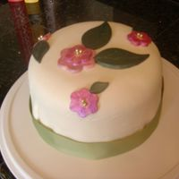 Birthday Cake Used that Betty Crocker filled cake pan set for this one . . . white cake with almond pudding filling.