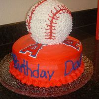 Angel's Baseball Cake I just finished this one for my Dad's birthday tonight. Its all Paula Deen's Bananna Nut Cake, the bottom tier has my Nana's...