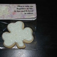 Wedding Shower Favors NFSC with royal icing. The bride chose a shamrock because she is part Irish and obsessed with the darned things. The labels I made with...