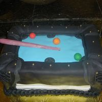 Pool Table Cake Made this one about a year ago but am just getting around to posting the pics . . . it was going to be modeled after a friends pool table...
