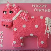 Pink Pony This cake was modeled after the invitation for the little girls Birthday party. It was at a pony ranch.