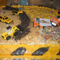 Construction Zone I made this cake for my nephew who is fascinated with construction vehicles. I made the road with crush oreo cookes; I used brown sugar for...
