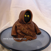 Jawa Mini Cake banana cake w cream cheese filling covered in chocolate fondant. we got 3 small servings from this which was perfect for us.