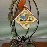 Hanging Bird House This cake was quite a challenge. I wanted the square on the angle AND I wanted the point at the bottom. It is a Sweet Potato Cake with...