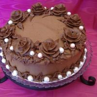 Chocolate Cake With Pearls