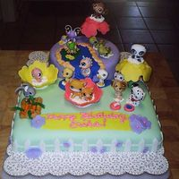 Littlest Pet Shop Birthday Cake This is my first Birthday cake using fondant. My neice Erika wanted a cake using her Littlest Pet Shop pets. I was inspired by many of the...