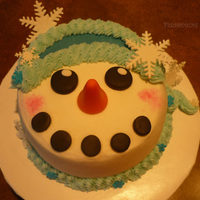 Snowman Cake! Just having fun ! Thanks for looking !!