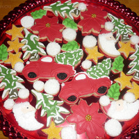 Christmas Cookies 2009 My Christmas Cookie Platter for 2009 !Thanks for looking !