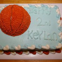 Basket Ball Birthday ! Chocolate Cake,Buttercream icing!Thanks for Looking !