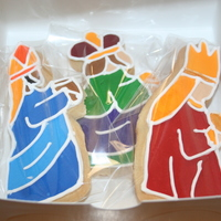 Three Kings   Cookies of the three Kings for my mom in Puerto Rico. The 3 Kings day is celebrated January 6th in most Latin American countries.