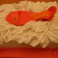 My Daughter's Shoe Cake  I did this for my 12 year old who absolutely loves shoes. She chose the color! I intended to make the lid, but I was having a hard time, so...