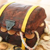 Treasure Chest For My Nephew's Pirate Theme Birthday  First of all, thank you to every CC'er that has posted a treasure chest cake. I looked at many pictures for inspiration. I made it my...