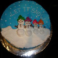 Snow Family  I was inspied by the cake made by Alickert. Thanks! I have only worked with fondant and thought I should finally get to the basics and...