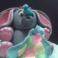 Baby Elephant The topper for my baby shower cake.