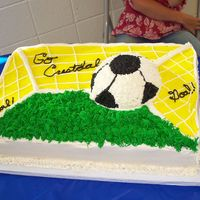 Crestdale Soccer  Inspired by a cake by Carla's Cake Creations out of Texas. I love to look at her website! Lot's of mistakes, but it was 2:00 in...